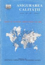 Asigurarea Calităţii – Quality Assurance, Vol. I, Issue 1, January-March 1995