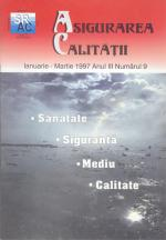 Asigurarea Calităţii – Quality Assurance, Vol. III, Issue 9, January-March 1997