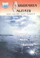 Asigurarea Calităţii – Quality Assurance, Vol. IV, Issue 14, April-June 1998
