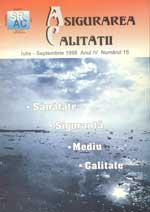 Asigurarea Calităţii – Quality Assurance Vol. IV, Issue 15, July-September 1998