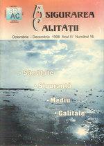 Asigurarea Calităţii – Quality Assurance Vol. IV, Issue 16, October-December 1998