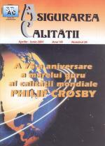 Asigurarea Calităţii – Quality Assurance, Vol. VII, Issue 26, April-June 2001