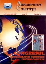 Asigurarea Calităţii – Quality Assurance, Vol. VII, Issue 27, July-September 2001