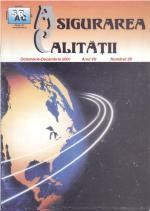Asigurarea Calităţii – Quality Assurance, Vol. VII, Issue 28, October-December 2001