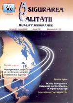 Asigurarea Calităţii – Quality Assurance, Vol. VIII, Issues 29-30, January-June 2002