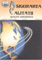 Asigurarea Calităţii – Quality Assurance, Vol. VIII, Issue 32, October-December 2002