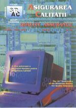 Asigurarea Calităţii – Quality Assurance, Vol. IX, Issue 34, April-June 2003