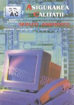 Asigurarea Calităţii – Quality Assurance, Vol. IX, Issue 36, October-December 2003