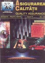 Asigurarea Calităţii – Quality Assurance, Vol. X, Issue 37, January-March 2004