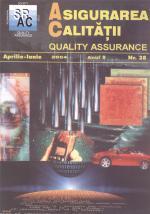 Asigurarea Calităţii – Quality Assurance, Vol. X, Issue 38, April-June 2004