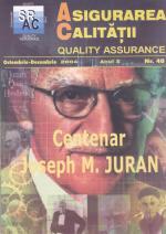 Asigurarea Calităţii – Quality Assurance, Vol. X, Issue 40, October-December 2004