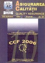 Asigurarea Calităţii – Quality Assurance, Vol. XII, Issue 47, July-September 2006