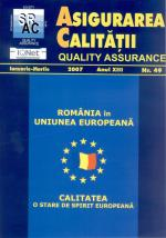 Asigurarea Calităţii – Quality Assurance, Vol. XIII, Issue 49, January-March 2007