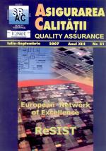 Asigurarea Calităţii – Quality Assurance, Vol. XIII, Issue 51, July-September 2007