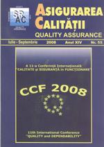 Asigurarea Calităţii – Quality Assurance, Vol. XIV, Issue 55, July-September 2008