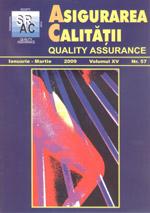 Asigurarea Calităţii – Quality Assurance, Vol. XV, Issue 57, January-March 2009