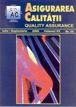 Asigurarea Calităţii – Quality Assurance, Vol. XV, Issue 59, July-September 2009