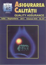 Asigurarea Calităţii – Quality Assurance, Vol. XVII, Issue 67, July-September 2011