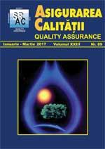 Asigurarea Calităţii – Quality Assurance, Vol. XXIII, Issue 89, January-March 2017