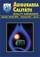 Asigurarea Calităţii – Quality Assurance, Vol. XXIV, Issue 93, January-March 2018